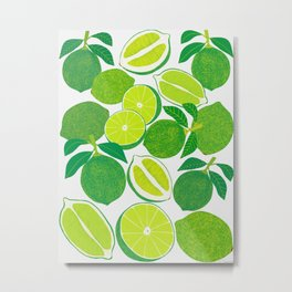 Lime Harvest Metal Print