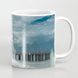 Storm over the pier of Miramar. Coffee Mug