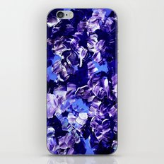 FLORAL FANTASY 2 Bold  Blue Lavender Purple Abstract Flowers Acrylic Textural Painting Garden Art iPhone & iPod Skin