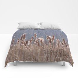 Cattails in Summer Comforters