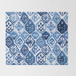 Arabesque tile art Throw Blanket