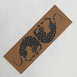 Blockprint Cheetah Yoga Mat