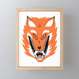 Cursed Fox Framed Mini Art Print