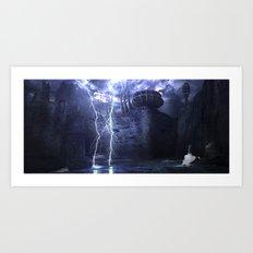 Alien Thunder  Art Print