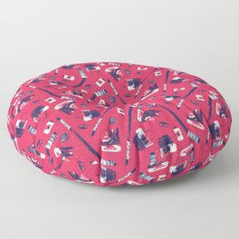 Tools of a Hockey Player Floor Pillow