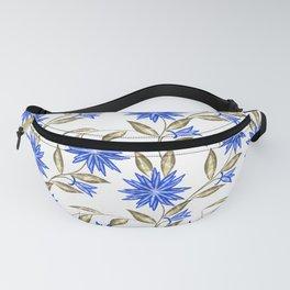 Flowers blue.Imitation. Fanny Pack