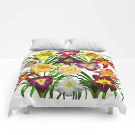 Display of daylilies I Comforters