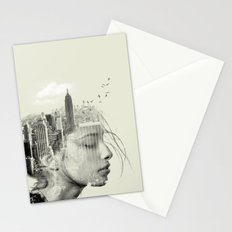 New York City reflection Stationery Cards