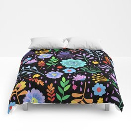 Cute colorful mixed flowers pattern Comforters