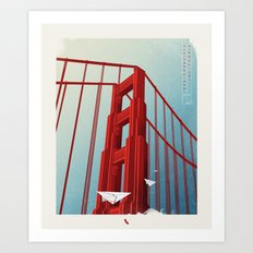 Golden Gate Bridge Travel Poster Art Print