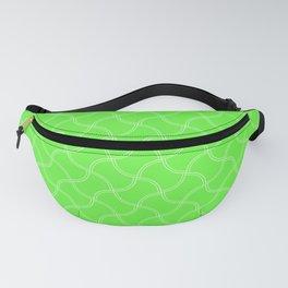 Bright Neon Green Tennis Ball Seams Repeating PatternBright Neon Green Tennis Ball Seams Repeating P Fanny Pack