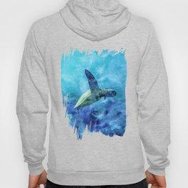 Sea Turtle Into The Deep Blue Hoody