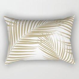 Palm Leaves - Gold Cali Vibes #1 #tropical #decor #art #society6 Rectangular Pillow