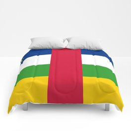 National flag of the Central African Republic or CRA - Authentic version to scale and color Comforters