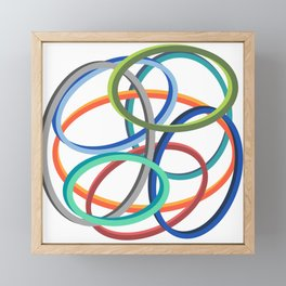 Circle circle Framed Mini Art Print