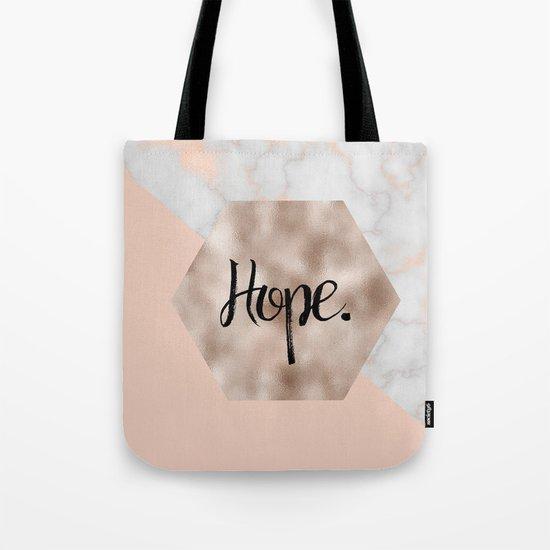 Rose gold layers - hope Tote Bag