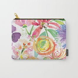 Bold Florals Carry-All Pouch
