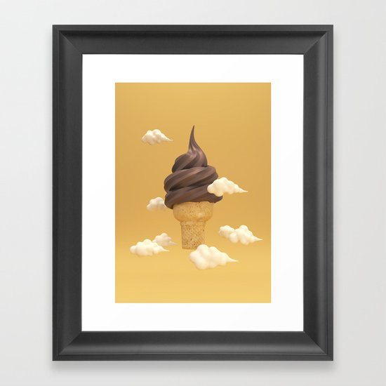 Big Ice Cream Framed Art Print