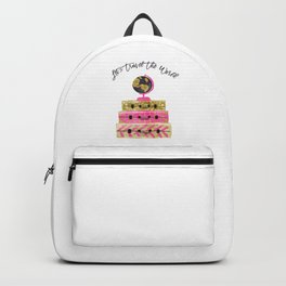 Let's Travel The World, Bag, Asia, Africa, Australia, America, Pink, Plane, Beauty, Happines Backpack