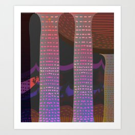 Vibrant Columns at the Party Home Art Print