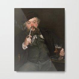 Edouard Manet - Happy Beer Drinker Metal Print