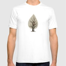Tree House White Mens Fitted Tee MEDIUM