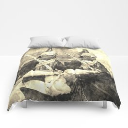 Household Cavalry Changing Of The Guard Vintage Comforters