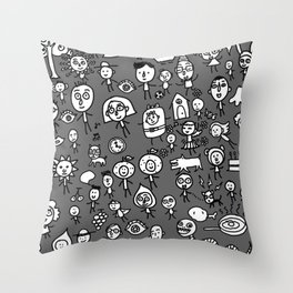 Friends on the earth Throw Pillow