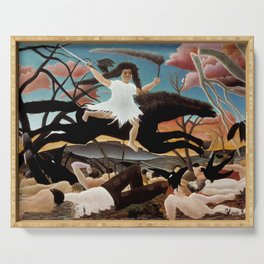 "Henri Rousseau ""War or the Ride of Discord"" Serving Tray"
