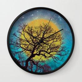 Winter Oaks Wall Clock
