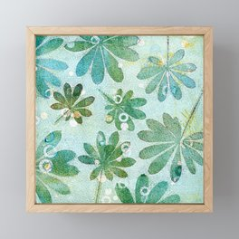 Dreamy green flowers Framed Mini Art Print