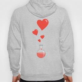 Love Chemistry Flask of Hearts Pattern Hoody
