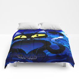 Black Cat Midnight Comforters