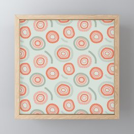 circles orange & green Framed Mini Art Print