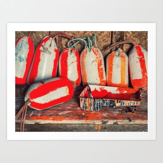 Buoy Painting Workbench Art Print