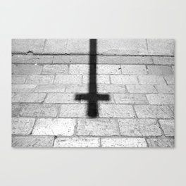 Religion is a 'No Loading at Any Time' road sign. Canvas Print