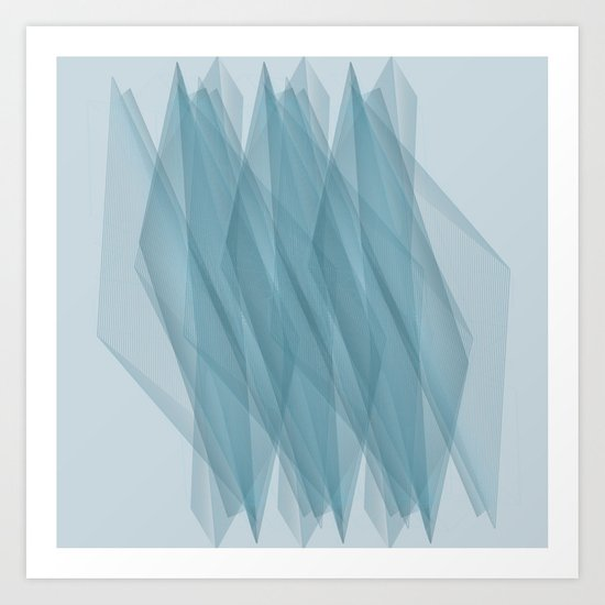 Twisted Lines Art Print