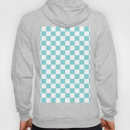 Gingham Duck Egg Blue Checked Pattern Hoody