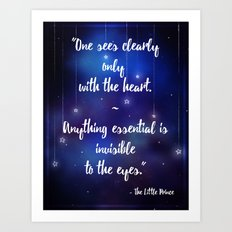 See Clearly With The Heart - The Little Prince Art Print