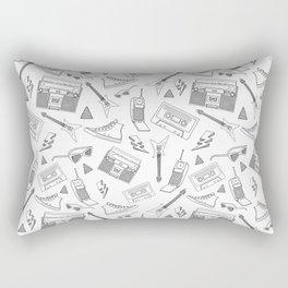 Livin in the 90s // Black & White Rectangular Pillow