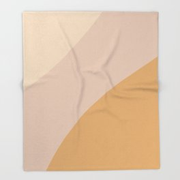 Warm Neutral Color Wave Throw Blanket