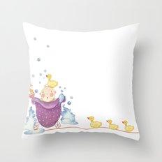 Baby bath Throw Pillow