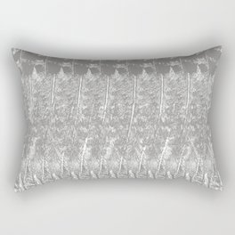 Feather Pattern | Bird Feathers | Grey and White | Rectangular Pillow