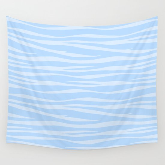 Zebra Print - Wavy Blue by silverpegasus