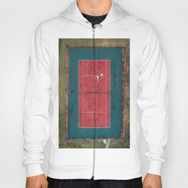 Tennis court, view of drone Hoody