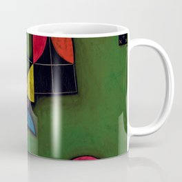 "Paul Klee ""Pflanze und Fenster Stilleben (Still life with Plant and Window)"" Coffee Mug"
