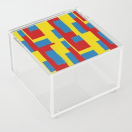 Yellow - Blue - Red Acrylic Box