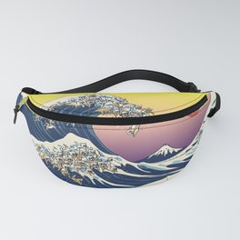 The Great Wave Of  Cat Fanny Pack