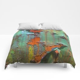 Flaking Paint on Rust Comforters