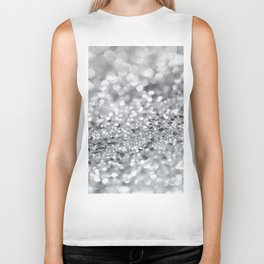 Silver Gray Lady Glitter #1 #shiny #decor #art #society6 Biker Tank